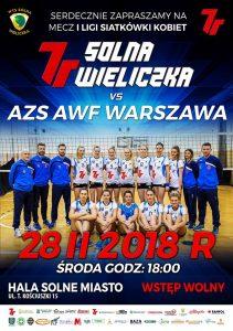 I Liga kobiet 28.02.2018 godz. 18.00 7R SOLNA Wieliczka – AZS AWF Warszawa