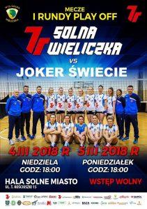I Liga kobiet 04.03.2018 I runda play off  7R SOLNA Wieliczka – JOKER Świecie