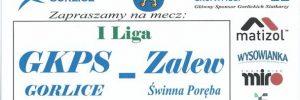 24.03.2018 godz. 19.00 I Liga Małopolska Mężczyzn GKPS Gorlice – ZALEW Świnna Poręba