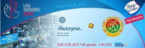 26.03.2018 godz. 18.00 LSK MKS MUSZYNA S.A – BKS Bielsko-Biała