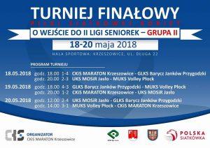 Turniej finałowy o awans do II ligi kobiet 18-20.05.2018 Krzeszowice