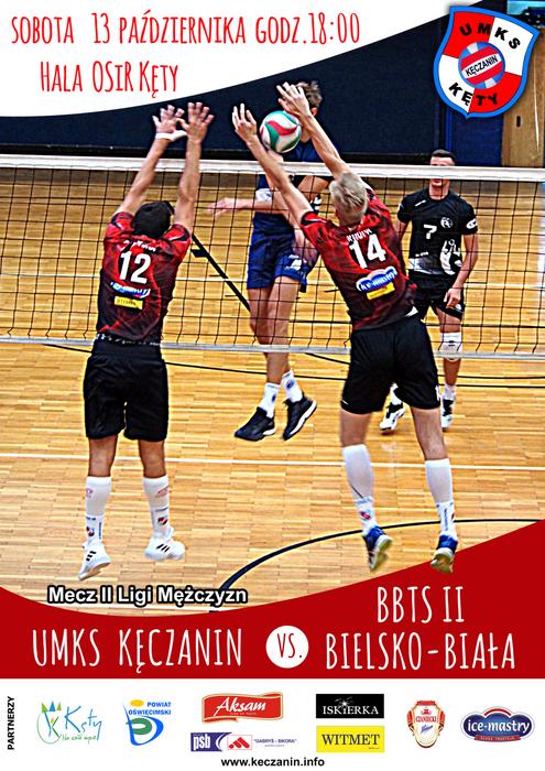2 Liga mężczyzn 13.10.18 godz. 18.00 KĘCZANIN Kęty - BBTS Bielsko Biała II