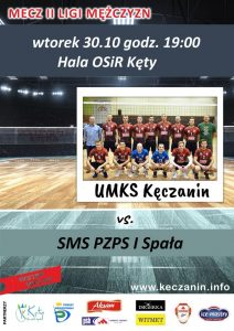 II Liga Mężczyzn  30.10.2018 Kęczanin Kęty – SMS PZPS Spała