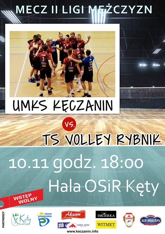 II Liga Mężczyzn 10.11.2018 godz. 18.00 UMKS Kęczanin Kęty - TS Volley Rybnik