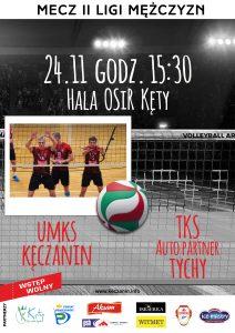 II Liga Mężczyzn 24.11.18 g.15.30 UMKS KECZANIN Kety – TKS AUTO Partner Tychy