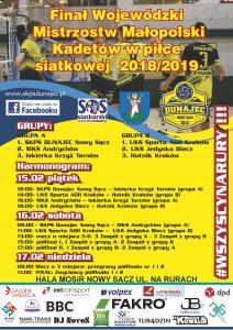 Finał Wojewódzki Kadetów 15-17.02.2019