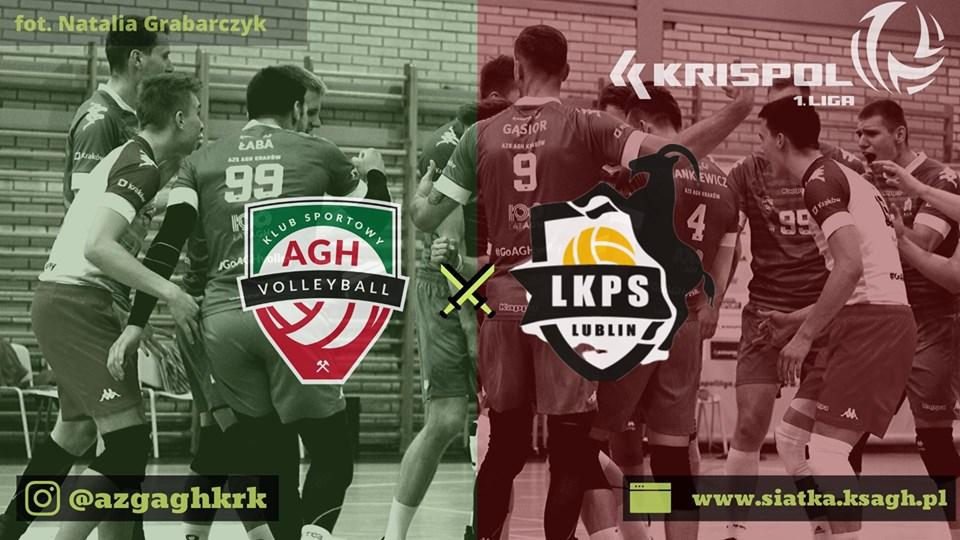 I Liga Mężczyzn 09.11.2019 g. 15.30 AZS AGH Kraków - LUK Politechnika Lublin