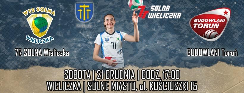 I Liga Kobiet 21.12.2019 g.17.00 7R SOLNA Wieliczka -BUDOWLANI Toruń