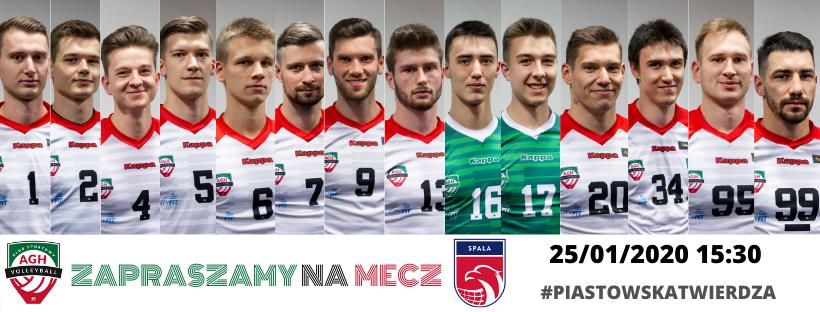 I Liga Mężczyzn 25.01.2020 g.15.30 AZS AGH Kraków - SMS PZPS Spała