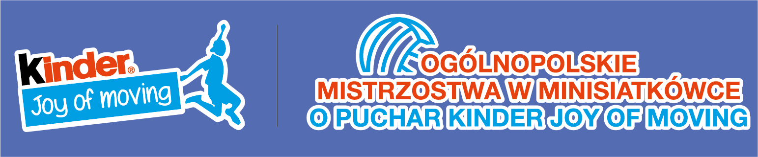 AKTUALIZACJA KOMUNIKAT nr 2/2020 Rozgrywki Minisiatkówki Kinder Joy of moving 2020