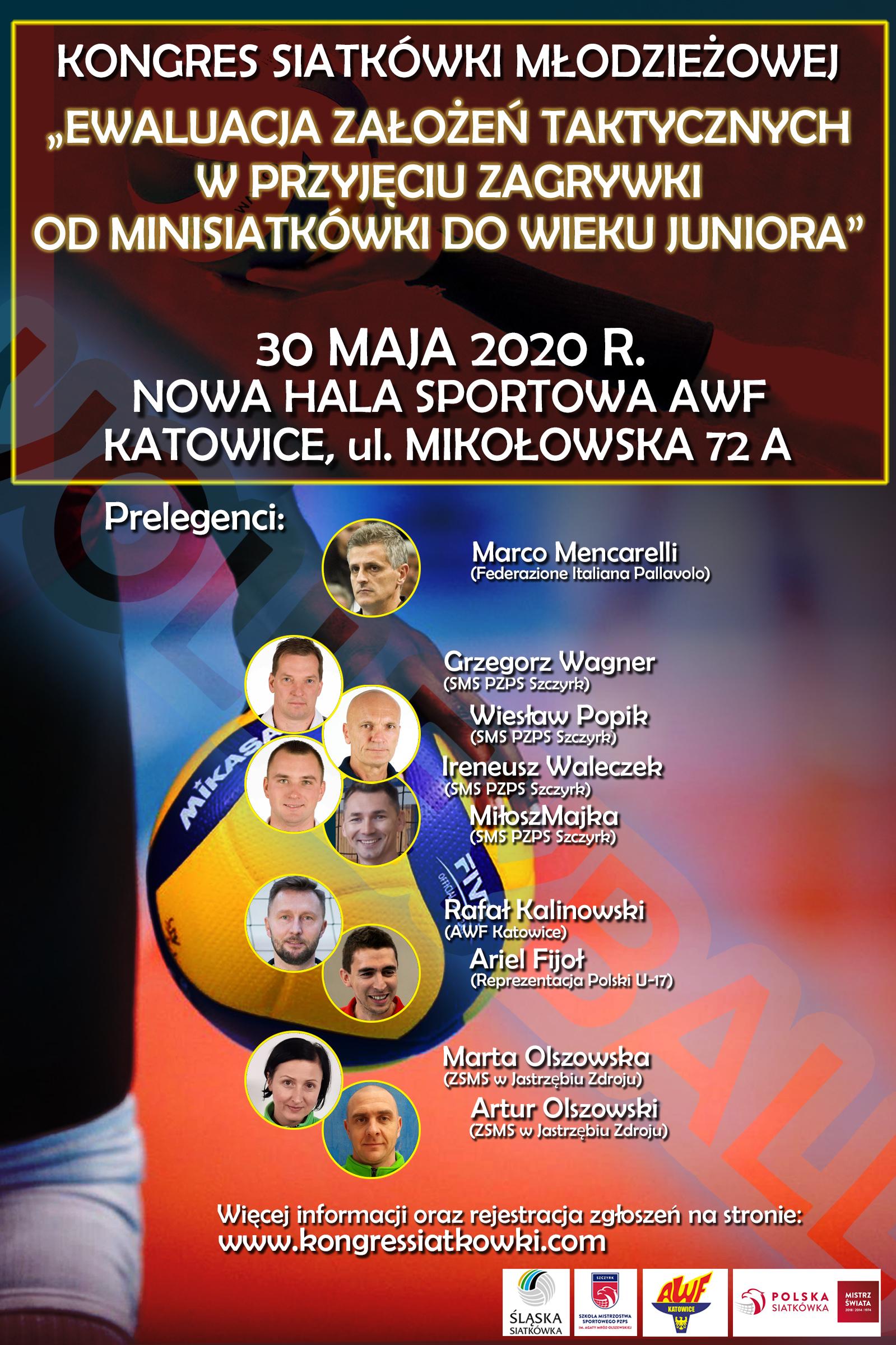 Kongres Siatkówki Młodzieżowej Katowice 30.05.2020r